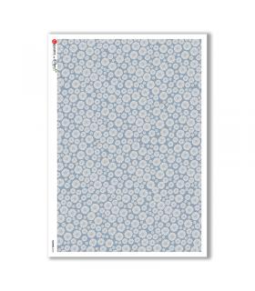 FLOWERS-0146. Papel de Arroz flores para decoupage.
