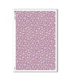 FLOWERS-0147. Papel de Arroz flores para decoupage.