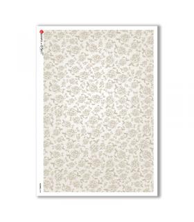 FLOWERS-0148. Papel de Arroz flores para decoupage.