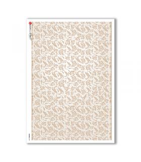 FLOWERS-0149. Papel de Arroz flores para decoupage.