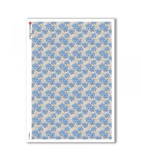 FLOWERS-0158. Carta di riso fiori per decoupage.