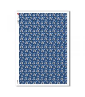 FLOWERS-0159. Papel de Arroz flores para decoupage.