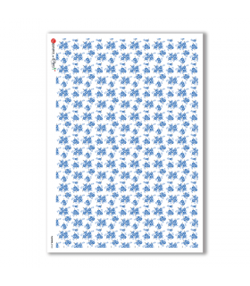 FLOWERS-0160. Carta di riso fiori per decoupage.