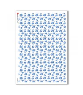 FLOWERS-0160. Papel de Arroz flores para decoupage.