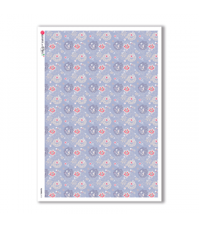 FLOWERS-0172. Carta di riso fiori per decoupage.