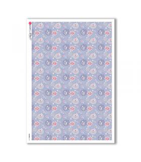 FLOWERS-0172. Papel de Arroz flores para decoupage.