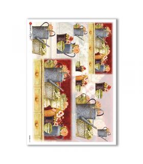 FLOWERS-0178. Carta di riso fiori per decoupage.