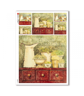 FLOWERS-0183. Carta di riso fiori per decoupage.