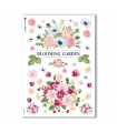 FLOWERS-0188. Carta di riso fiori per decoupage.