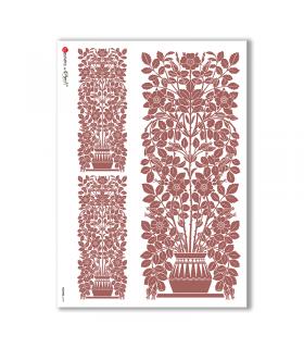 FLOWERS-0195. Papel de Arroz flores para decoupage.