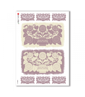 FLOWERS-0196. Papel de Arroz flores para decoupage.
