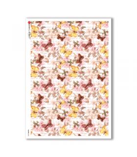 FLOWERS-0206. Carta di riso fiori per decoupage.