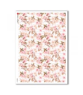 FLOWERS-0207. Carta di riso fiori per decoupage.