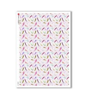 FLOWERS-0209. Papel de Arroz flores para decoupage.