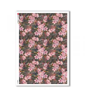 FLOWERS-0210. Carta di riso fiori per decoupage.