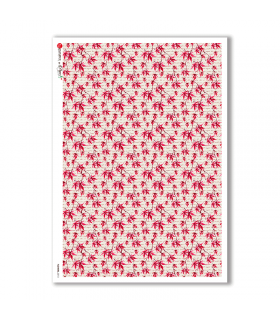 FLOWERS-0213. Papel de Arroz flores para decoupage.