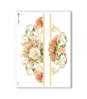 FLOWERS-0218. Papel de Arroz flores para decoupage.