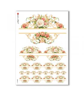 FLOWERS-0219. Papel de Arroz flores para decoupage.