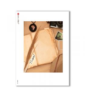 ALBUM-L-0061. Papel de Arroz album para decoupage.