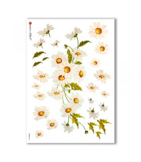 FLOWERS-0257. Papel de Arroz flores para decoupage.