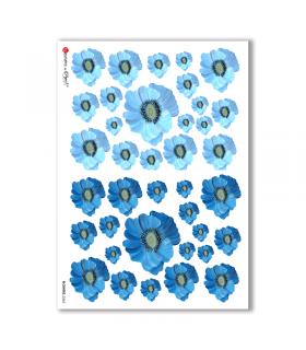 FLOWERS-0265. Papel de Arroz flores para decoupage.