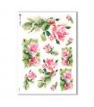 FLOWERS-0266. Carta di riso vittoriana fiori per decoupage.