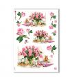 FLOWERS_0271. Carta di riso vittoriana fiori per decoupage.