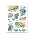 FLOWERS_0273. Carta di riso vittoriana fiori per decoupage.