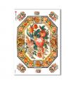 FLOWERS_0278. Carta di riso vittoriana fiori per decoupage.
