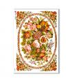 FLOWERS_0280. Carta di riso vittoriana fiori per decoupage.