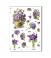 FLOWERS_0287. Carta di riso vittoriana fiori per decoupage.