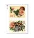 FLOWERS_0291. Carta di riso vittoriana fiori per decoupage.