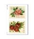 FLOWERS_0293. Carta di riso vittoriana fiori per decoupage.