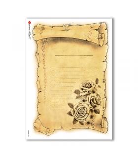 FLOWERS-0294. Carta di riso vittoriana fiori per decoupage.
