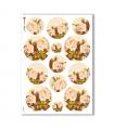 FLOWERS_0297. Carta di riso vittoriana fiori per decoupage.
