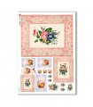 FLOWERS_0299. Carta di riso vittoriana fiori per decoupage.