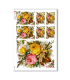 FLOWERS_0300. Carta di riso vittoriana fiori per decoupage.