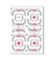 FLOWERS_0301. Carta di riso vittoriana fiori per decoupage.