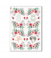 FLOWERS_0312. Carta di riso vittoriana fiori per decoupage.