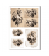 FLOWERS_0313. Carta di riso vittoriana fiori per decoupage.
