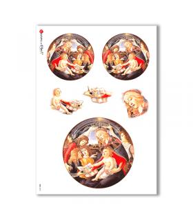 CULT-0013. Carta di riso sacra per decoupage.