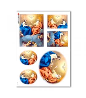 CULT-0018. Papel de Arroz sacras para decoupage.
