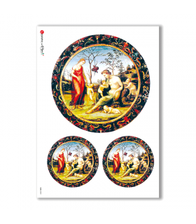 CULT-0020. Carta di riso sacra per decoupage.