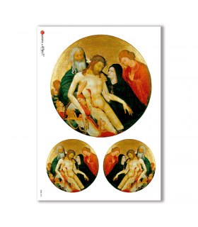 CULT-0023. Papel de Arroz sacras para decoupage.