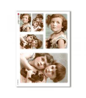 OLD-PHOTOS-0032. Papel de Arroz victoriano para decoupage.