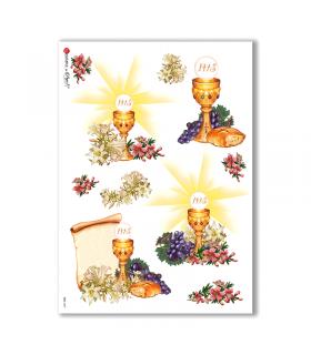 CULT-0027. Carta di riso sacra per decoupage.