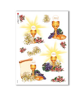 CULT-0027. Holy Rice Paper for decoupage.