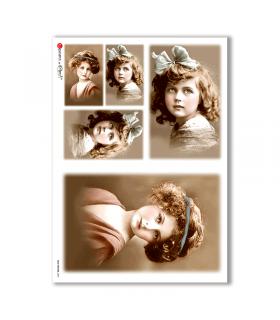 OLD-PHOTOS-0037. Papel de Arroz victoriano para decoupage.