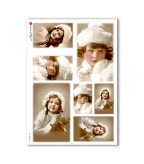 OLD-PHOTOS-0038. Papel de Arroz victoriano para decoupage.