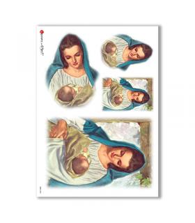 CULT-0033. Carta di riso sacra per decoupage.